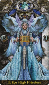 The High Priestess from the Illuminati Tarot Deck