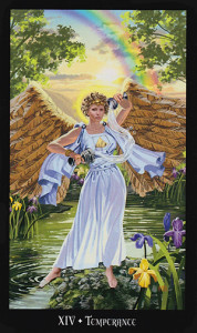 The Temperance card from the Witches Tarot Deck
