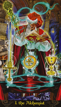 The Alchemist from the Illuminati Tarot Deck