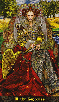 The Empress from the Illuminati Tarot Deck