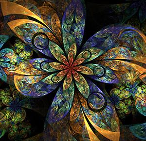 Alignment Blue Flower