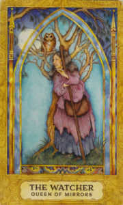 The Watcher - The Queen of Cups:Mirrors - the Crone Tarot Card